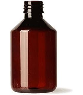 Botella plástico 200 ml color ÁMBAR uso Farmacéutico y Alimentario - Tarifa Plana envíos