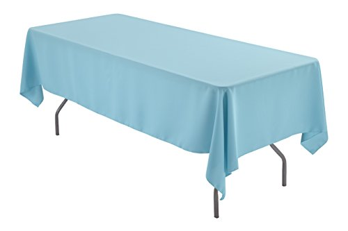 Zhen Linen 60 x 102 inch Rectangular Polyester Tablecloth (Tiffany Blue) (Blue Linens Tiffany)