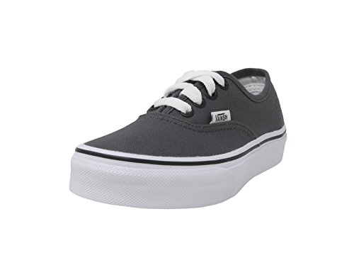 Vans Kids Authentic Pewter/Blk Skate Shoe 12 Kids -