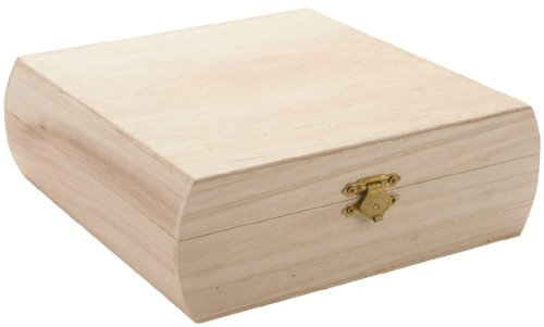 Teacher Keepsake Box - Darice 9180-14 Unfinished Wood Purse Box, 7.25 by 7.25-Inch