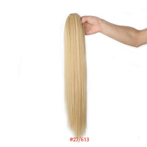 20''120G Synthetic Ponytail Fake Hairpieces Claw Pony Tail Straight Hair Extensions High Temperature Fiber 6 Colors NC/4HL 20inches