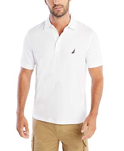 Nautica Men's Short Sleeve Solid Stretch Cotton Pique Polo Shirt