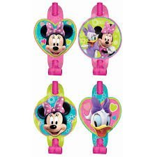 (Amscan Disney Minnie Mouse Blowouts Birthday Party Toy Noisemaker (Pack of 8), Multicolor, 5 5/8