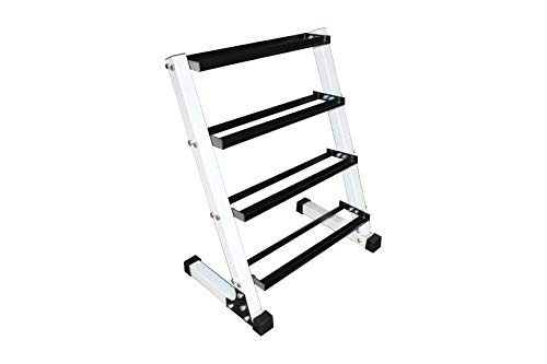Ader Sporting Goods 4 Tier 24 Dumbbell Rack Each Layer Hold 8-9 Pair Dumbbells