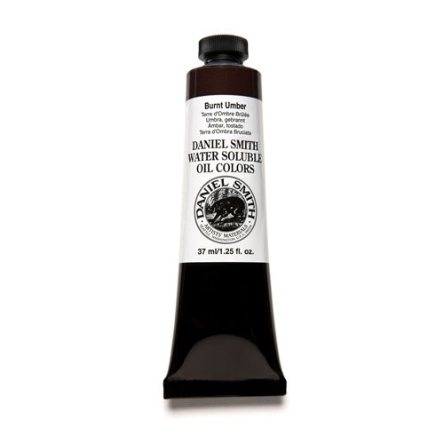Tortoise Shell Paint - DANIEL SMITH 284390004 Water Soluble Oils Paint Tube, 37 ml, Burnt Umber