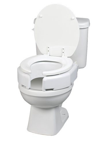 - Maddak Secure-Bolt Hinged Elevated Toilet Seat, Standard (725680000)