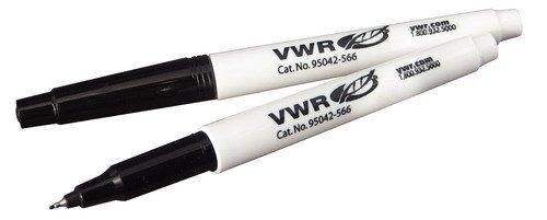 VWR 95042-566 Chemical-Resistant Laboratory Marker, Black Ink (Pack of - Water Vwr