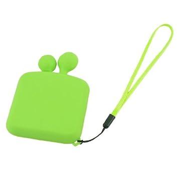 Green Travel plástico 4 Compartimento Cápsulas Pill Box Organizer Caso