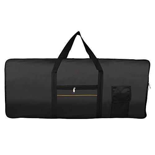 61 Key Electronic Keyboard Bag Black Case Oxford Travel Bag - 2