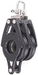 DOUBLE SWIVEL W//BECKET NAUTOS 92021 SAILING BLOCK ORGANIC 57 MM