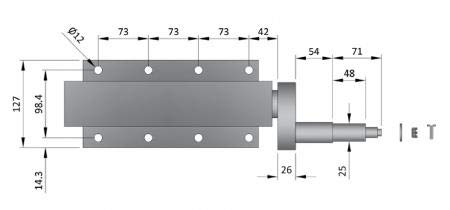 LMX1185 leisure MART 750kg Avonride trailer suspension units supplied with 4 inch PCD hubs Pt no