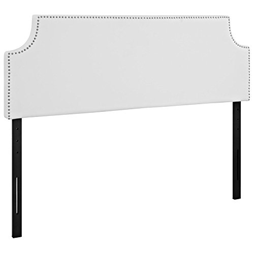 Modway Laura Faux Leather Upholstered Queen Size Headboard with Cut-Out Edges and Nailhead Trim in ()