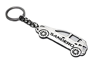 Llavero con anillo para Renault Sandero II acero clave ...