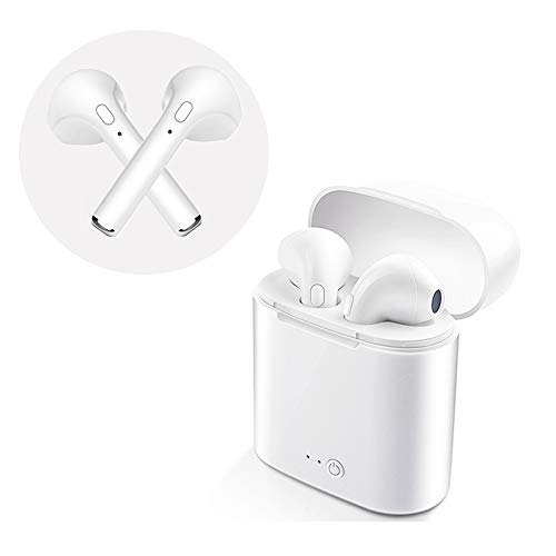 Wireless Earphones,Built in Mic Wireless Earbuds 12 Hrs Playtime HiFi Stereo Sound Music Bluetooth Headphones for exercising,traveling,driving compatible with Samsung Galaxy Huawei Xiaomi