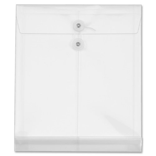 Globe-Weis/Pendaflex Poly Envelopes, Top Open, 1.25-Inch Expansion, Letter Size, Clear, 5 Envelopes Per Pack (89520)
