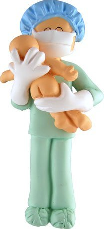 Obgyn Obstetricain Midwife Baby Doctor Pediatrian Labor Nurse Ornament Gift ()
