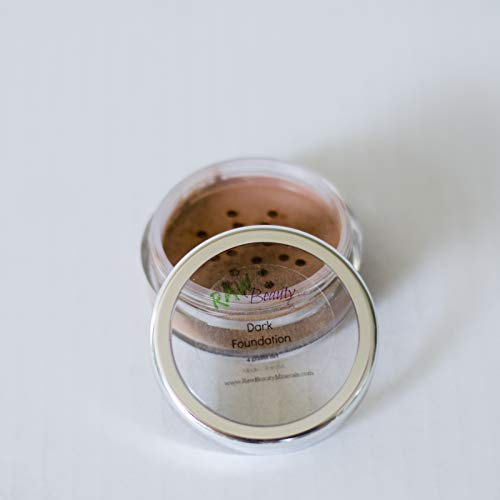 Natural & Vegan Mineral Foundation Powder, 10g jar (2 grams net wt) (Dark)