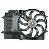 TYC 621080 Mini Cooper Replacement Radiator/Condenser Cooling Fan Assembly