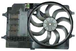 TYC 621080 Mini Cooper Replacement Radiator/Condenser Cooling Fan Assembly (Motor Mini Cooper S)