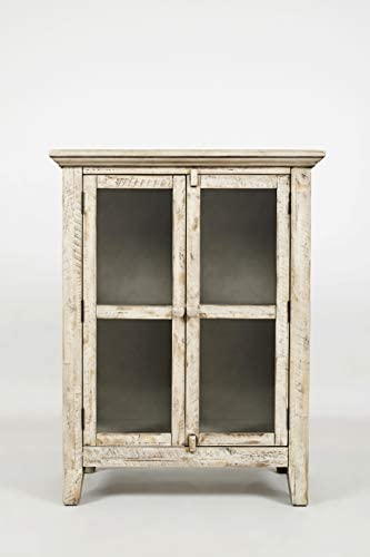 Jofran , Rustic Shores, Accent Cabinet, 32 W X 15 D X 42 H, Vintage Cream Finish, Set of 1