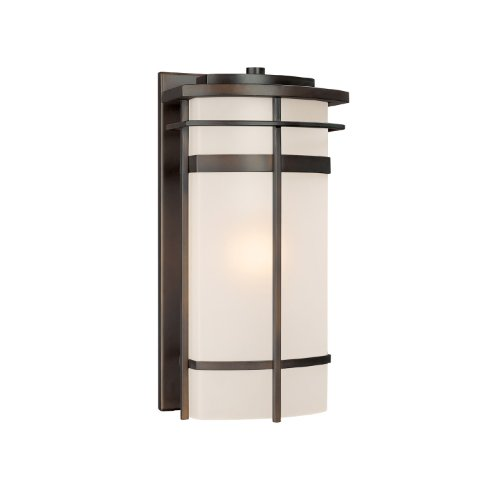 Capital Lighting 9881OB Lakeshore 1-Light Outdoor Wall Lantern, Olde Bronze with Frosted Glass Review