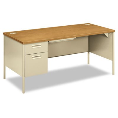 HON Metro Classic Laminate  Office Desk - Left Pedestal Desk with File Drawer, 66