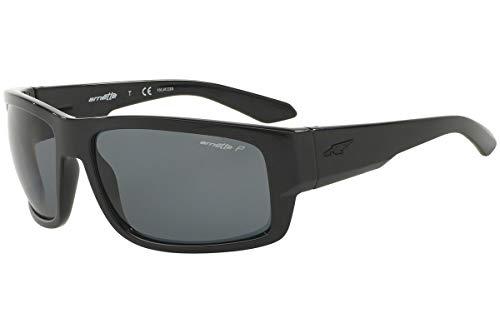 Arnette Men's AN4221 Grifter Rectangular Sunglasses, Black/Polarized Grey, 62 mm