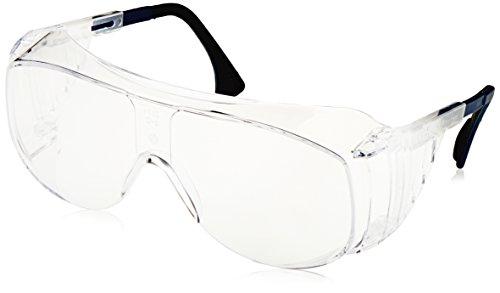 Uvex S0112 Ultra-spec 2001 OTG Safety Eyewear, Clear Frame, Clear Ultra-Dura Hardcoat - For Frames Specs