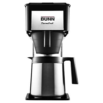 BUNN BTX-B(D) ThermoFresh High Altitude 10-Cup Home Thermal Carafe Coffee Brewer, Black