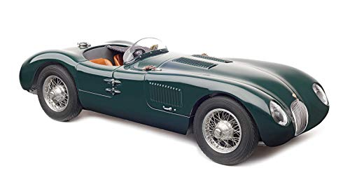 CMC-Classic Model Cars Jaguar C-Type 1952, Green 1:18 Scale Detailed Assembled Collectible Historic Antique Vehicle Replica
