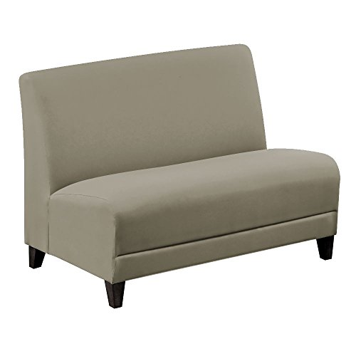 """Faux Leather or Patterned Fabric Armless Loveseat - 44""""W Dim"""