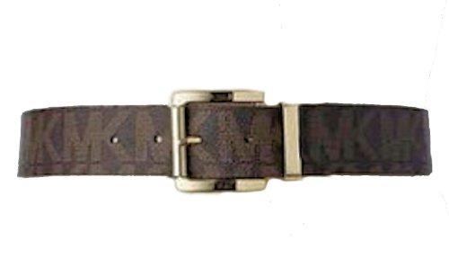 Michael Kors Woven Belt - Michael Kors Women's 553143 MK Monogram Belt (Medium)