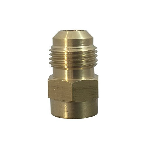 Fuel or Gas Line Brass Fitting [46F0604] Connector Coupling, 3/8 Flare x 1/4 Female NPT, 46F 0604 100% BRASS