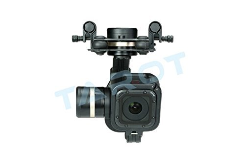 Price comparison product image Tarot GOPRO T-3D IV Metal 3 Axis Brushless Gimbal PTZ for GoPro 4 Hero4 Session TL3T02 W / Battery Straps