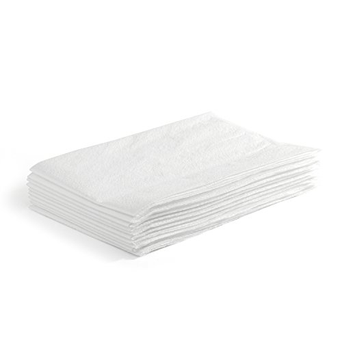 Disposable Tissue Pillow Cases - MediChoice Pillow Case, Standard, Disposable, Tissue/Poly, 21 Inch x 30 Inch, White (Case of 100)
