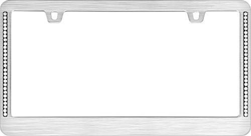 Cruiser Accessories 15002 Neo Diamondesque License Plate Frame, Titanium