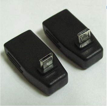 Cables 1 Pair one UP Cable Length: Adapter one Down Angle Micro USB B Male 90 Degree to USB A Female OTG Adapter Converter