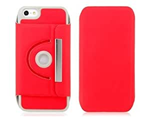 360° Rotation Protective Case with Stand for iPhone 5 (Red) + Worldwide free shiping