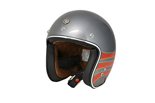 TORC  T50 Route 66 3/4 Open Face Helmet with 'Fastlane' Graphic (Metallic Wine, X-Large) ()