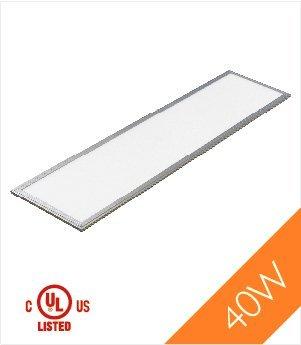 Troffer 1'x4' 40 Watt UL, DLC LED Panel Light, Cool White 4000k, 3300 Lumens, 1-Pack