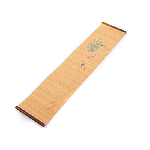 Corredor de la tabla Mesa de lujo corredor de madera natural de bambú tapete de mesa manteles individuales Servicio de comedor enrollable esteras sushi japonés estilo oriental ( Color : C , Size : 30*95CM )