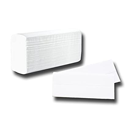 25x23cm toallitas de papel plegables, 2 capas, blanco brillante en relieve