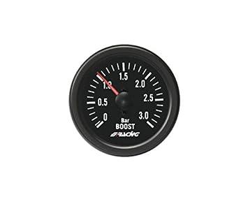 Simoni Racing BV/B2 Indicador Mecánico de Presión Turbo+VAC específico para motores Turbo Diesel, Negro: Amazon.es: Coche y moto