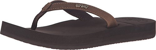 Reef Women's Cushion Luna Flip Flop, Brown, 10 M US