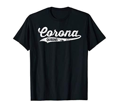 Corona Queens T-shirt : Retro Queens Vintage NYC Tee T-Shirt -