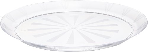 "Party Essentials N12 Plastic Round Tray, 12"" Diameter, Clear (Case of 12)"