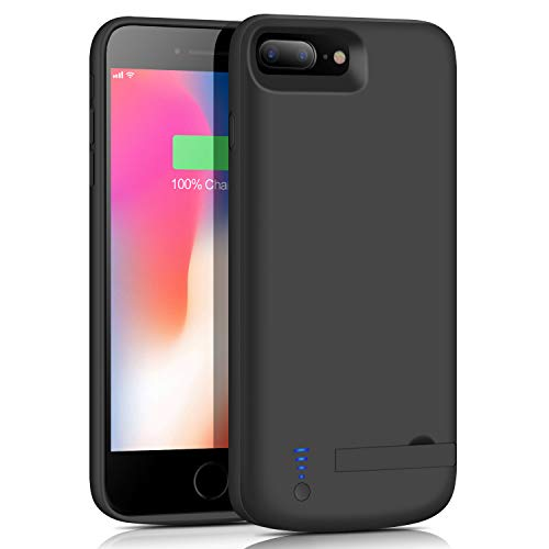 musttrue Battery Case for iPhone 6s Plus/6 Plus/8 Plus/7 Plus, 8000mAh Portable Rechargeable Charging Case for iPhone 6 Plus/6s Plus/8 Plus/7 Plus (5.5 inch) Protective Charger Case-Black