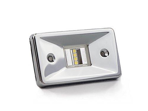 Light Flush Stern (Five Oceans Rectangular Flush-Mount LED Stern Light – BC 2868)