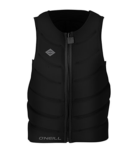 Vest Front Zip (O'Neill Men's Gooru Tech Front Zip Comp Life Vest, Black, Small)