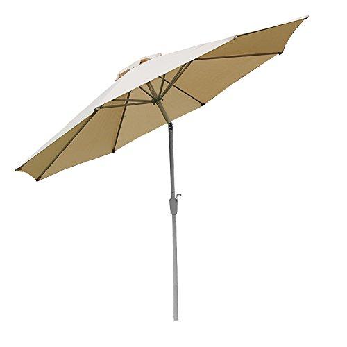 Alu Sonnenschirm Gartenschirm N19 300cm, neigbar, rostfrei ~ creme